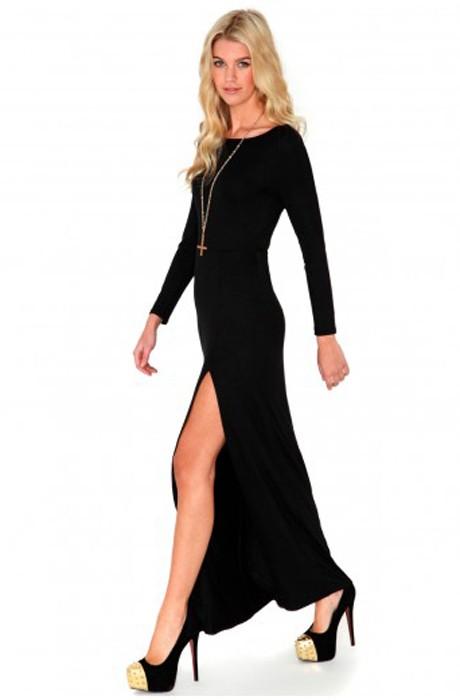 Side Split Drape Maxi Dress