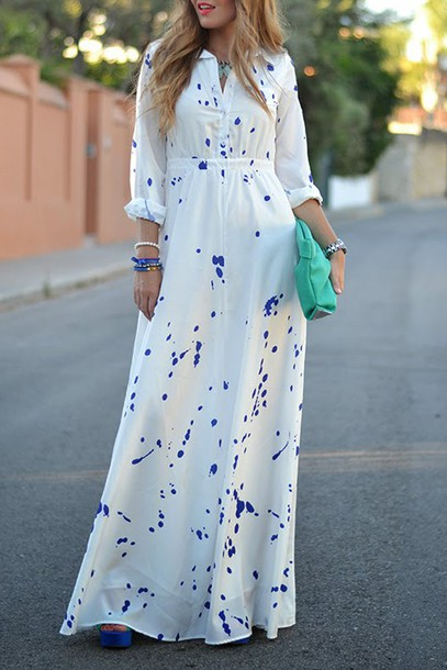 e4755c9d2d dress clothes dress maxi dress shirt maxi dress long dress top outfit  fashion streetstyle maxi skirt