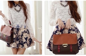 floral dress ulzzang kfashion