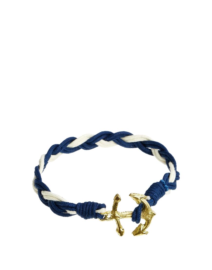 ASOS Anchor Bracelet With Gold Anchor at asos.com