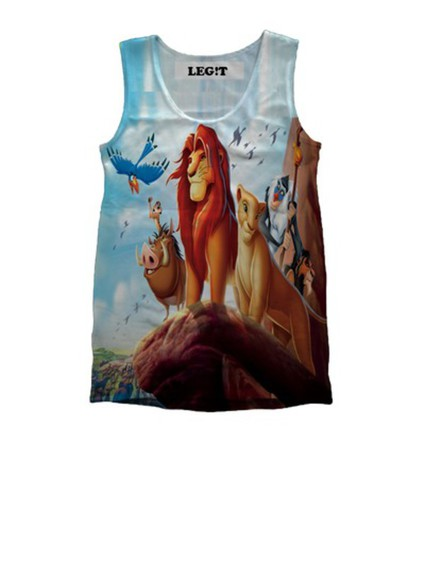 t-shirt 90's lion king cartoon kids fashion culture kings lion shirt lion king,simba, the lion king,pins,disney disney brand , celebrity, mermaid prom dresses different tank top