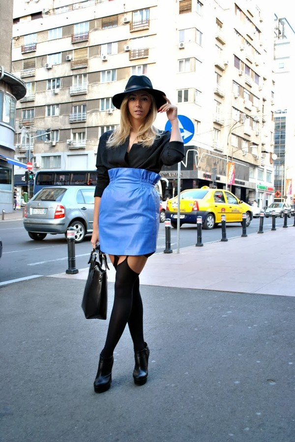 let's talk about fashion ! hat jacket skirt shoes bag