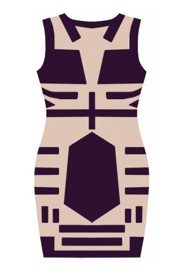 Geo Nude Dress | Outfit Made