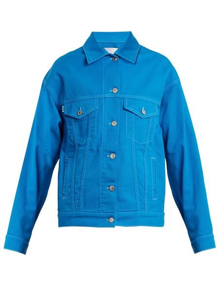 MSGM jacket denim jacket oversized denim jacket denim oversized blue