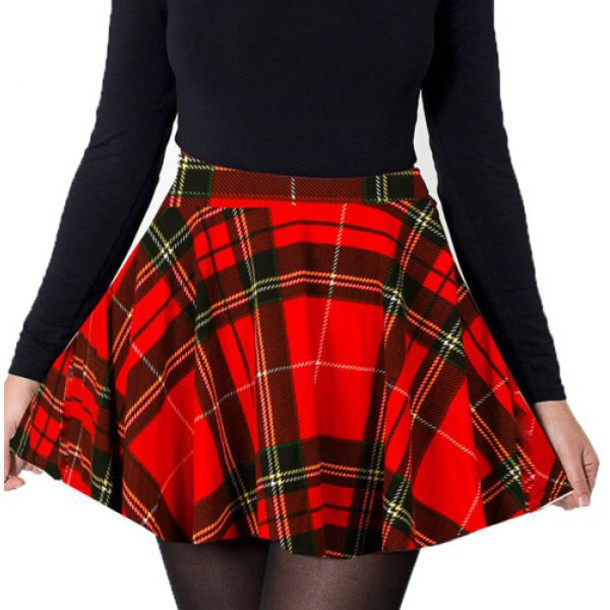 95c6515068 skirt, plaid, plaid skirt, tartan, tartan skirt, flannel, mini skirt ...