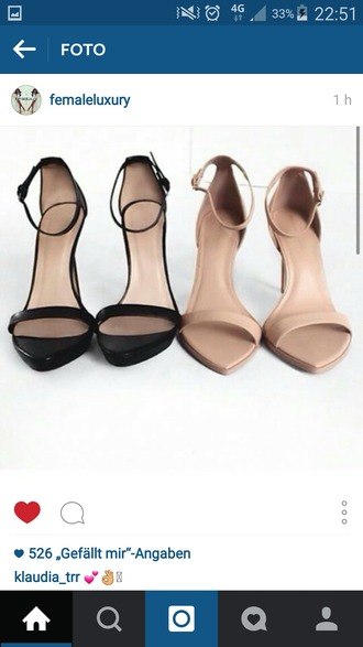 shoes black heels high-heeled sandals high heels nude sandals nude shoes