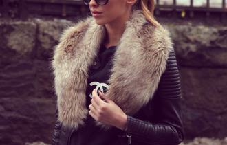 jacket leather perfecto fourrure chic
