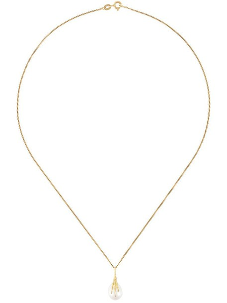 Wouters & Hendrix Gold women pearl necklace gold white yellow grey metallic jewels