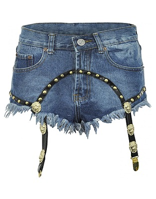 ASOS Fashion Finder | Bitching & Junkfood Suspender Kitty Denim Shorts - as seen on Jessie J