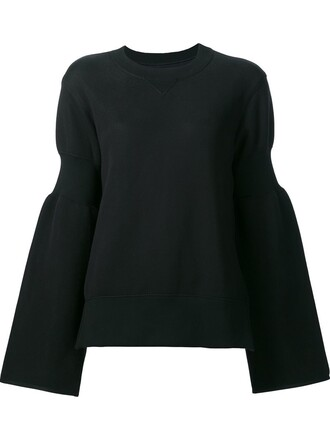 sweatshirt zip black sweater