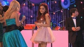 dress,ariana grande,pink dress,cute,glitters