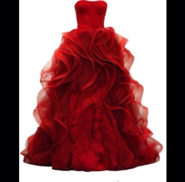 dress red dress poofy alice in wonderland tulle skirt