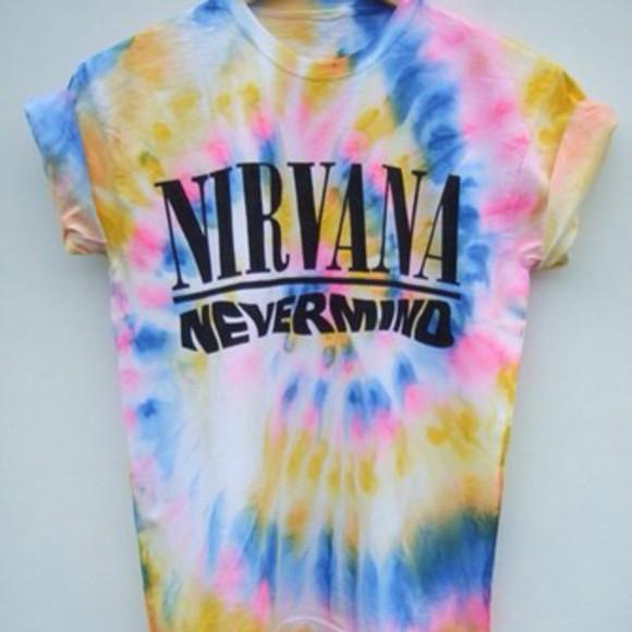 nirvana nirvana t-shirt tie dye