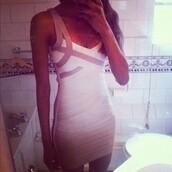 dress,gold,white,short,pretty,tight,bodycon dress,white dress,straps,bathroom,sink,phone,girl,prom dress,short dress,sparkle