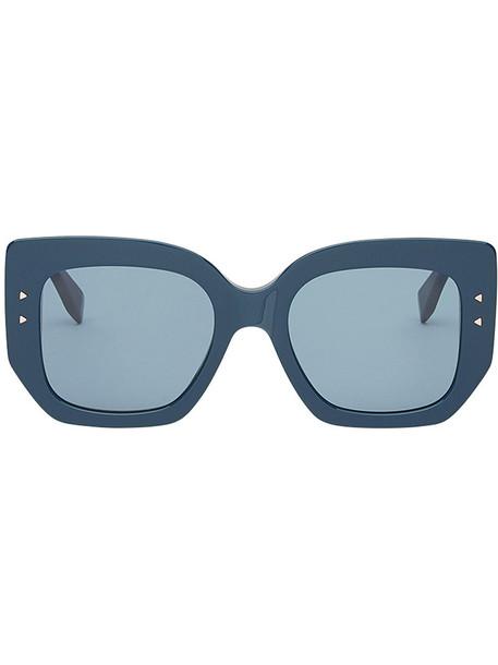 Fendi Eyewear oversized women plastic sunglasses oversized sunglasses blue