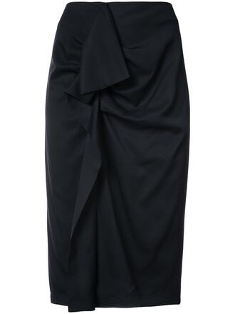 skirt high women spandex black