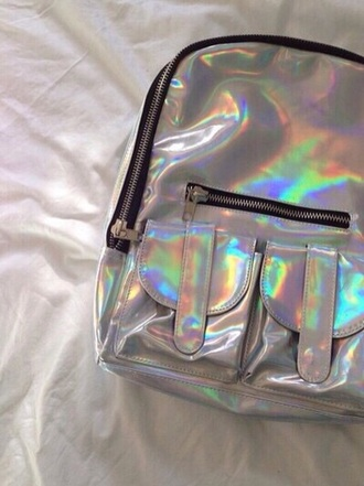 bag shiny backpack