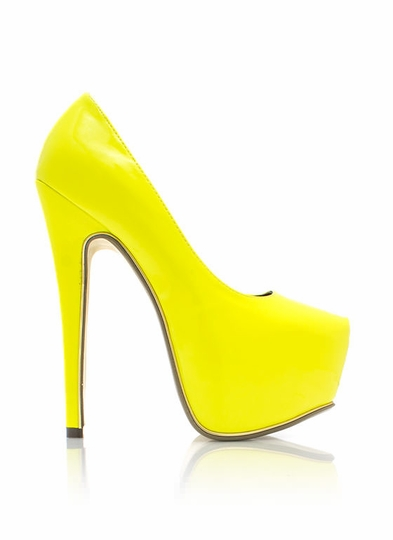 On-The-Edge-Platform-Pumps YELLOW RED MINT BLACK PINK NUDE - GoJane.com