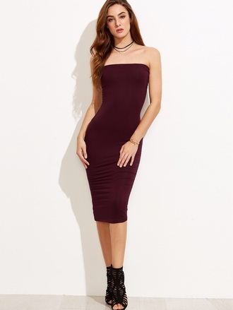 dress girly girl girly wishlist bodycon dress burgundy burgundy dress sleeveless tube dress