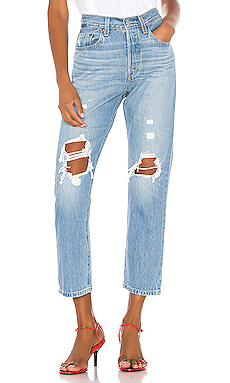 LEVI'S 501 Crop in Montgomery Patched from Revolve.com