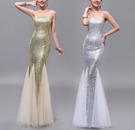 Mermaid sweetheart evening dresses