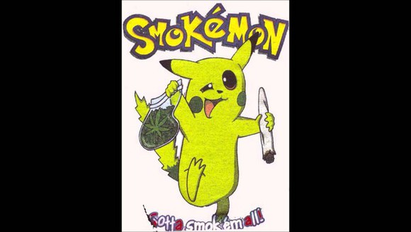 pokemon pikachu t-shirt smokemon funny t shirt popular t shirt smoking weed marijuana get high