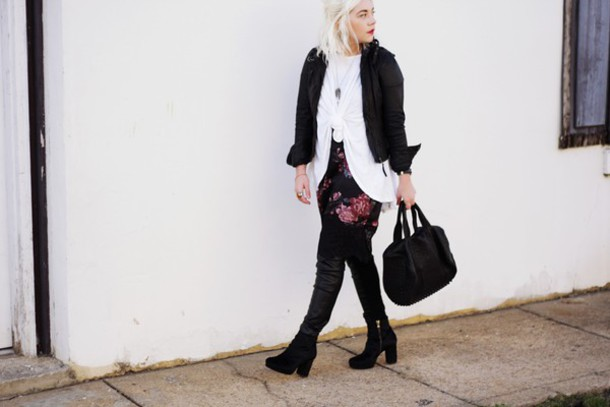 styles by hannah riles blogger jacket t-shirt leggings shoes bag jewels