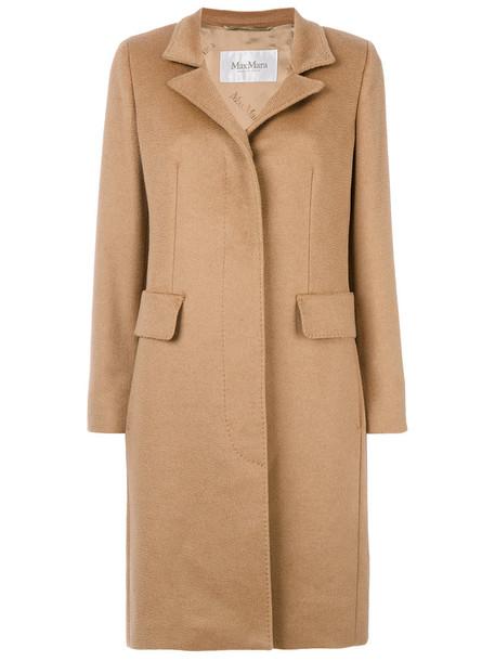 coat hair women brown camel