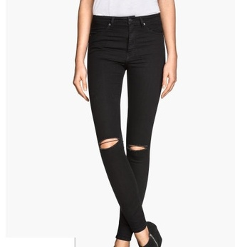 jeans high waisted ripped black