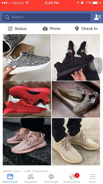 shoes yeezy black red tan rose
