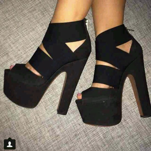 shoes block heels black heels black heels black pump strappy platform shoes chunky heels