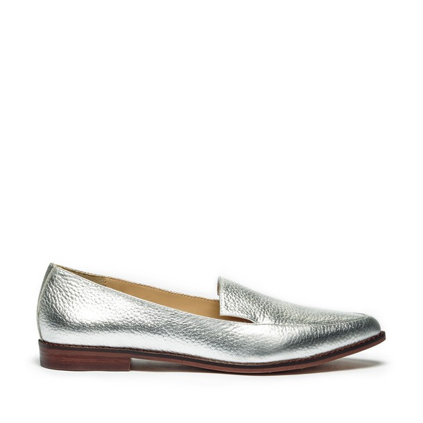 Sole Society Beau Slip On Loafer - Silver-5