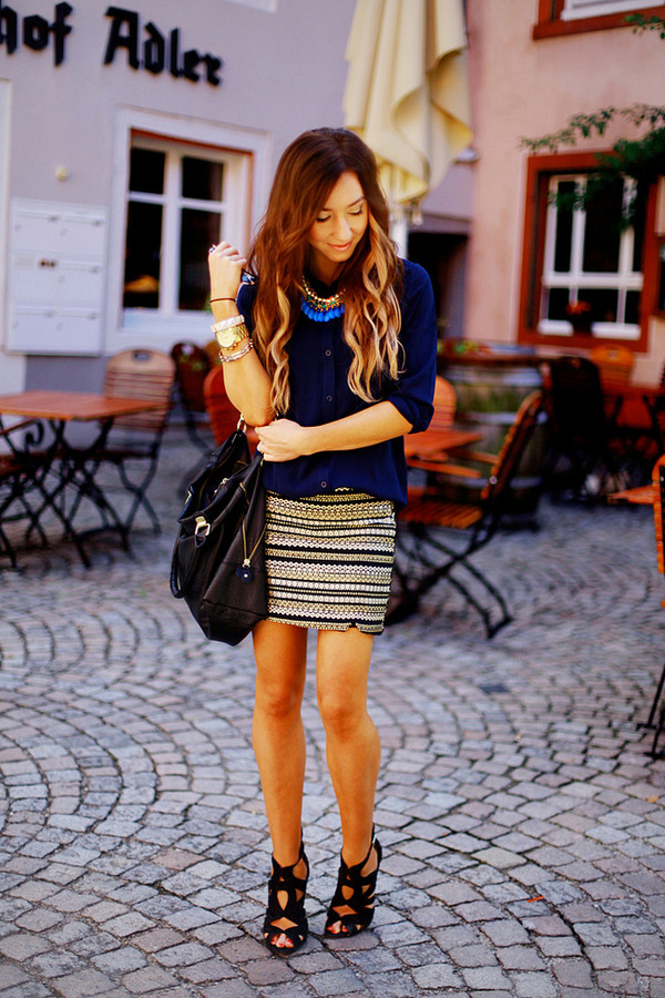 flirting with fashion blouse skirt shoes bag sunglasses