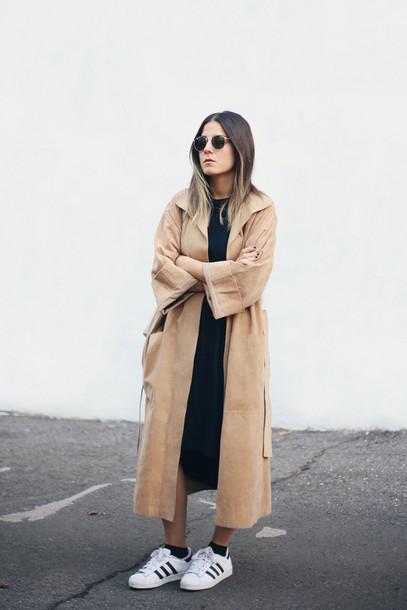 724e1e43afc5 elif filyos blogger coat camel coat long coat fall coat adidas shoes camel  long coat