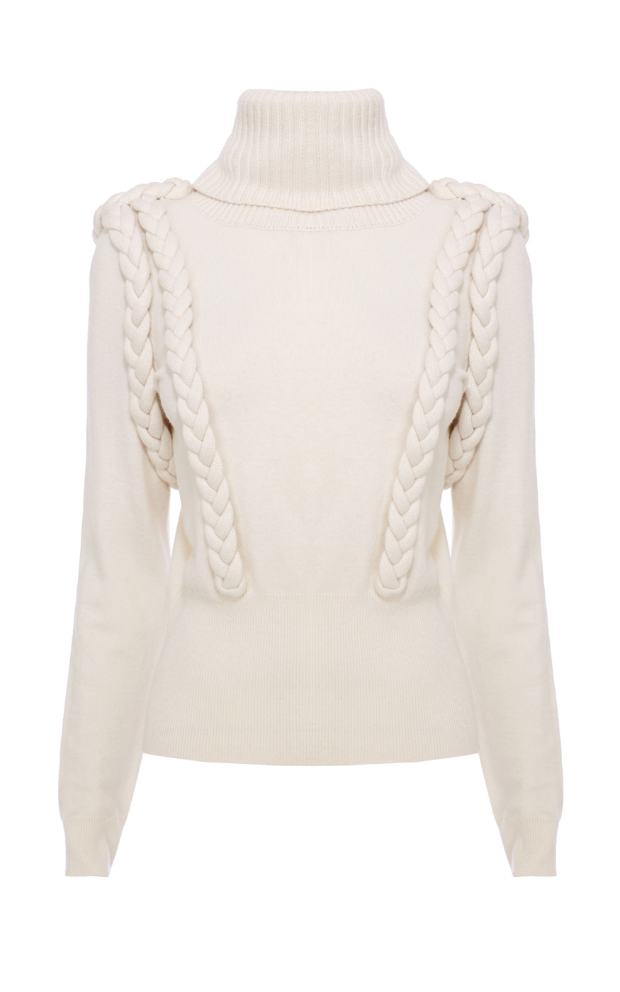 e29304cc8e6 PLAITED CABLE COWL NECK JUMPER | Luxury Women's knitwear | Karen Millen