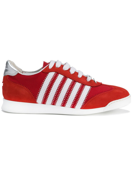 Dsquared2 women new sneakers leather red shoes