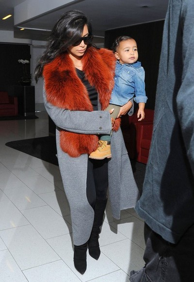 fall outfits coat kim kardashian kids fashion