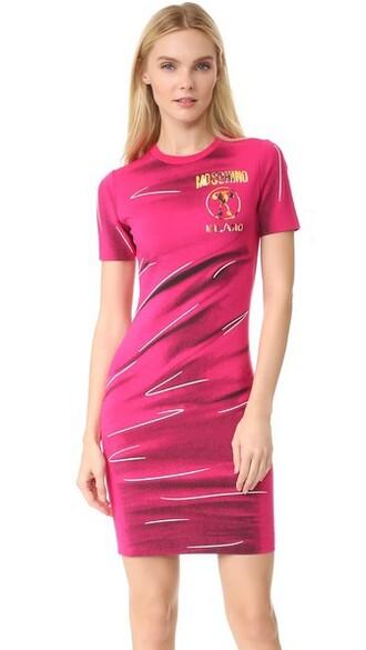 dress short sleeve dress short pink