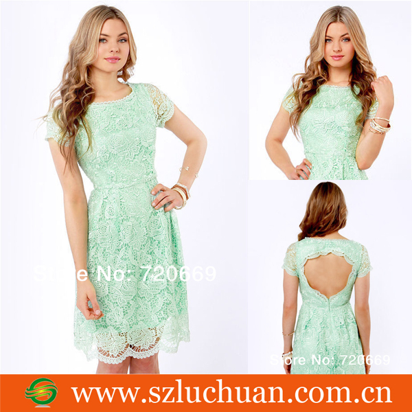 New Design Short Sleeve Lace Bridesmaid Dresses-in Bridesmaid Dresses from Apparel & Accessories on Aliexpress.com