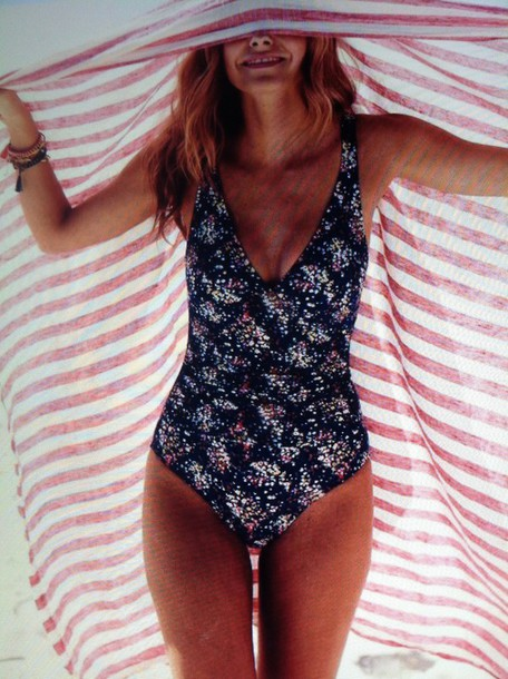 swimwear cute floral pretty one piece summer monokini