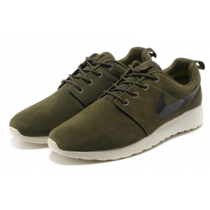 Nike Roshe Run Mens Shoes Dark Green White