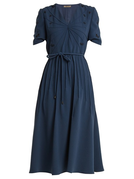 dress embroidered denim