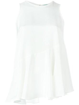 top sleeveless top sleeveless women spandex white silk