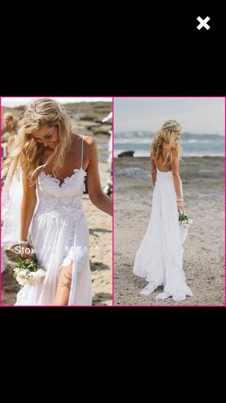dress white lace boho prom wedding prom dress wedding dress straps lace dress boho dresses bohemian