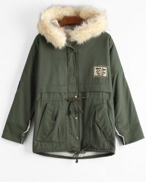 coat girly green olive green fur fur coat fur jacket