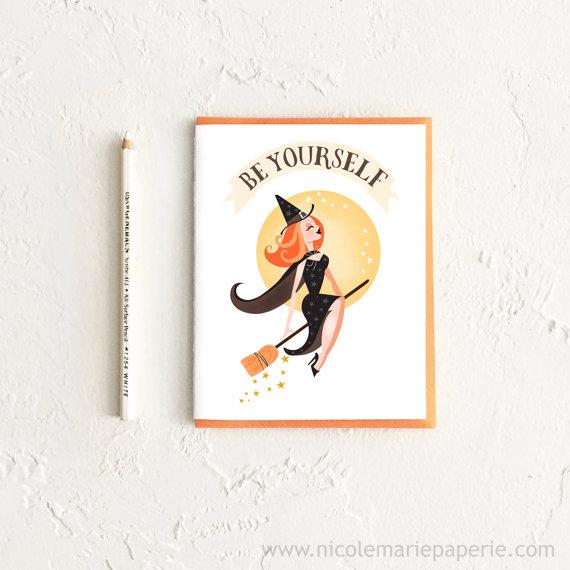Halloween Witch Card, Halloween Card, Witch Card, Happy Halloween, Funny Halloween Card, Card for Her