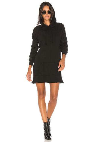 dress hoodie dress light black