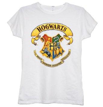 Harry potter hogwarts school of magic gryfinndor ladies t shirt 10: amazon.co.uk: clothing