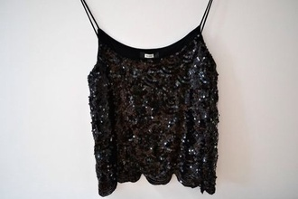 shirt strass paillettes l black gold