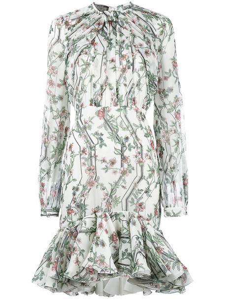 GIAMBATTISTA VALLI dress ruffle dress ruffle women floral white print silk